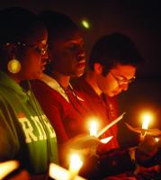 Photo of 'Racial vandalism' sparks candle vigil