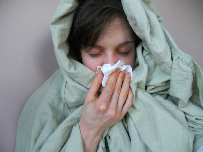 The average U.S. adult catches between two and four colds per year.