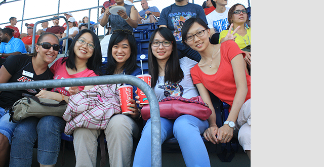 Photo of International students experience America's pastime