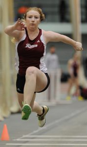 Senior jumper Lauryn Strebeck set the Rider record for the triple jump at the Lions Invitational on April 26.