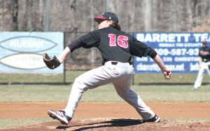 Senior pitcher Kyle Kennett gave up six hits and one run in seven innings in a 9-1 victory over Marist.