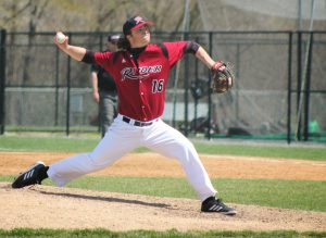 Senior pitcher Kyle Kennett pitched nine innings on April 26, allowing two runs and striking out four.