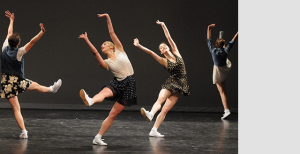 Dancers perform their choreography in front of a panel of judges during the audition round in January. Six dances were chosen for the May 3 showcase.
