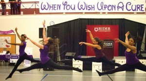 Rider Dance Ensemble performed four dances for more than 800 students at this year's Relay for Life.