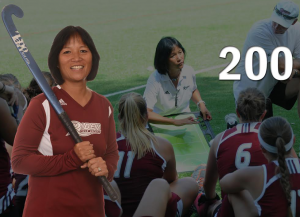Field Hockey Head Coach Lori Hussong earned her 200th victory at Rider on Sept. 21 against Towson.