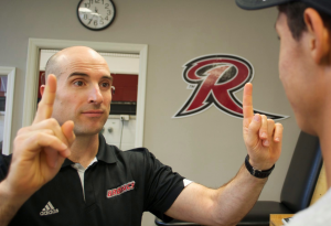 Tim Lengle, Rider's head athletic trainer, says approximately 15 to 20 percent of Rider's varsity athletes suffer from concussion symptoms each year.