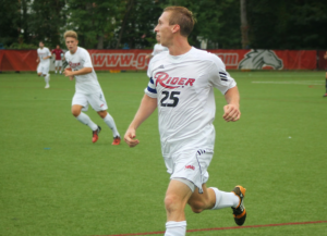 Senior forward Ryan Walsh assisted in the opening goal against St. Bonaventure on Sept. 21.