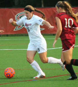 Junior midfielder Tara Ballay opened the scoring with a goal in the 16th minute of play on Sept. 14 when Rider defeated NJIT 2-1.