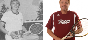 New Tennis head coach, Douglas Potkay, is eager to return to Rider and start the next chapter of his career (Bottom photo, which was taken in 1974, courtesy of Douglas Potkay).
