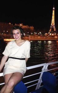 Schwartz also took in the scenery on a night Seine tour.