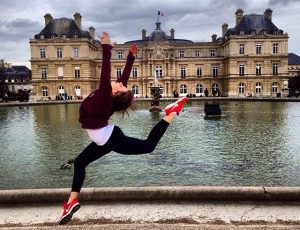 Kara Schwartz, senior marketing major, spent the spring semester of her junior year in Paris. As a dancer of 17 years, she took advantage of the city of ballet as she danced in a well-known park called Jardin de Luxembourg.