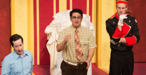 """From left, Eric Dann, Rory Connolly and Braden Sweeney open this musical comedy, along with the rest of the cast, with the opening number """"Something Funny's Going On."""""""