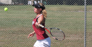 Senior Alison Noll ended her Rider tennis career on Oct. 26. In her two years as a Bronc, she compiled a 16-11 record, including a 7-2 record this past season.