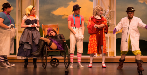 A Doctor In Spite of Himself  brought the audience on a hysterical and heart-warming journey, as it followed an array of characters working together to discover the true meaning of helping each other and love. Cast members included, from left, Justin Giachetti, Allie Patton, Mary Foster, Mark De La Rosa, Mark Swift and John Beirne.