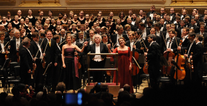 Westminster Symphonic Choir performed Mahler's Symphony No. 2 with the Berlin Philharmonic, conducted by Simon Rattle, at Carnegie Hall in 2012. This year's choir will be performing at Carnegie Hall March 1, singing Brahms' Ein deutsches Requiem (A German Requiem) with the Vienna Philharmonic and conductor Daniele Gatti.