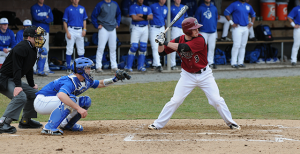 Senior outfielder Greg Fazio had four hits, three runs, and two RBI in a four-game span against Rutgers on March 25 and St. John's on March 27-29.