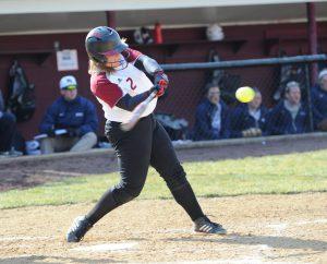 Junior first baseman Dana Sensi hit her sixth home run of the season on March 22.