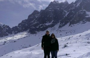 Lloyd Vliet along with his sister Vivian visit the French Alps in Chamonix, France.