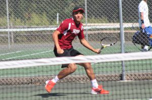 Freshman Chris Popso won five games but ultimately fell 6-3 and 6-2 in his match on March 29.