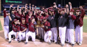 The baseball team won the Liberty Bell Classic on April 15 at Citizens Bank Park in Philadephia.