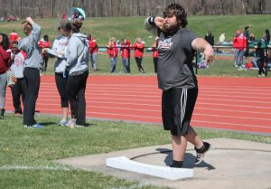 In the shot put, senior George Solujich had a throw of 16.93 meters, earning him first place at TCNJ.
