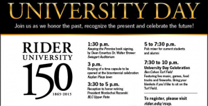 Events for University Day include burying a time capsule, honoring President Rozanski and ending the night with a celebration on Ben Cohen field with food trucks and fireworks.