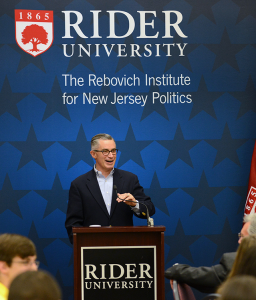 Fomer governor James E. McGreevey spoke in the Mercer Room on Sept. 28 about prison reform in America.