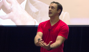 Dan Gheesling, winner of Big Brother, spoke to students on Sept. 19 about the duties of epic leaders.