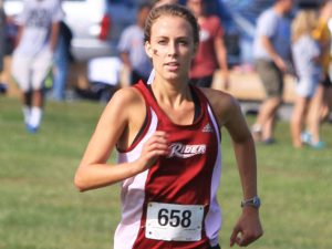 All-American Emily Ritter races towards 1st place at Rosedale.