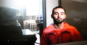 Jon Cannon appears on video from the Mercer County Correction Center during his arraignment on Oct. 6.
