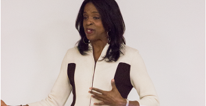 Author Stacey Tisdale speaks to Rider students about the negative reputation of the millennial generation on Oct. 19.
