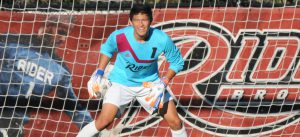 Junior goalkeeper David Pastuna made five saves in a MAAC contest against St. Peter's, despite losing the game to the Peacocks 2-0 on Sept. 30.