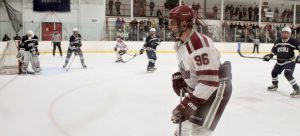 Senior forward Andrew Heinz scored a power-play goal against TCNJ to  tie the game at 1 on Nov. 13.