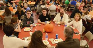 Students and family attend the Family Weekend luncheon on Nov. 7, featuring a Thanksigivng-style meal as well as student performances.