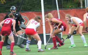 Sophomore forward Shannon Hughes scored the only goal in a 1-0 win against Bryant on Oct. 30.