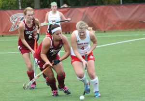 Senior midfielder Rachel Ippolite earned an assist in a 3-2 loss to Quinnipiac in the MAAC semifinals.