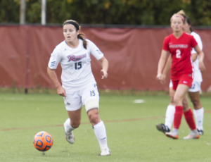 Senior back Tara Ballay scored a goal in the final game of her Rider career, a 3-1 loss in the semifinal.