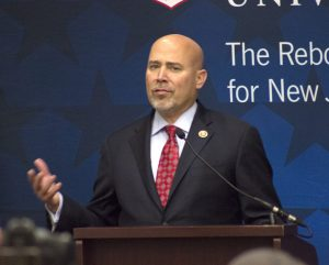 Republican Tom MacArthur speaks in the Mercer Room on Nov. 23 about his beginnings in New Jersey politics.