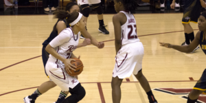 Junior guard Robin Perkins recorded 19 points and three rebounds against Canisius on Dec. 6; however, it was not enough to pick up a win at Alumni Gym.
