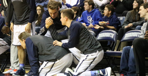 The Monmouth bench has gained fame this season for its elaborate celebrations when the team scores.