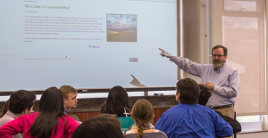 Dr. John H. Shannon speaks to students at the second annual Leadership Symposium on Feb. 20.
