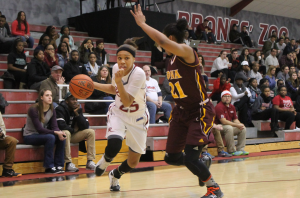 Junior guard Robin Perkins had 26 points in Rider's conference win against Saint Peter's on Feb. 9.