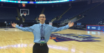 Rider junior Cory Andrews is ready to work the NCAA Women's Basketball Sweet 16 and Elite Eight games in Bridgeport, Connecticut.