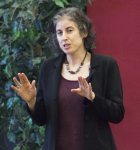Dr. Danielle Ofri, author of What Doctors Feel, speaks in the Cavalla Room on April 5 about the doctor-patient connection.