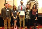 From left, Thomas Regan, Shanna O'Mara, Gianluca D'Elia, Emily Kelley and Emily Klingman won awards from NJCPA.