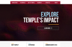 """Temple University's current homepage features a multimedia project showcasing the university's worldwide reach, advertised with the slogan """"Explore Temple's Impact.""""  The website also features a """"Why Temple"""" tab at the bottom, a link geared toward prospective students that is typical of the recruitment content found on university websites — large and small, public and private."""