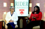Congresswomen Bonnie Watson Coleman and Terri A. Sewell discuss the importance of voting rights for students as a part of #RIDERVOTES.