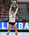 Junior Veronica Koval had 29 assists in the Broncs' win on Oct. 1.