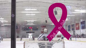 On Nov. 5, the Rider ice hockey team's fifth annual Pink in the Rink event raised over $1,500 for breast cancer research.