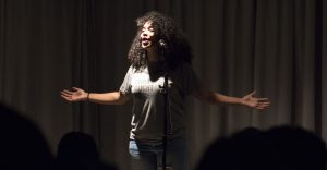 Spoken word artist Elizabeth Acevedo performed a collection of emotional and culturally-driven poems in the pub on Nov. 11